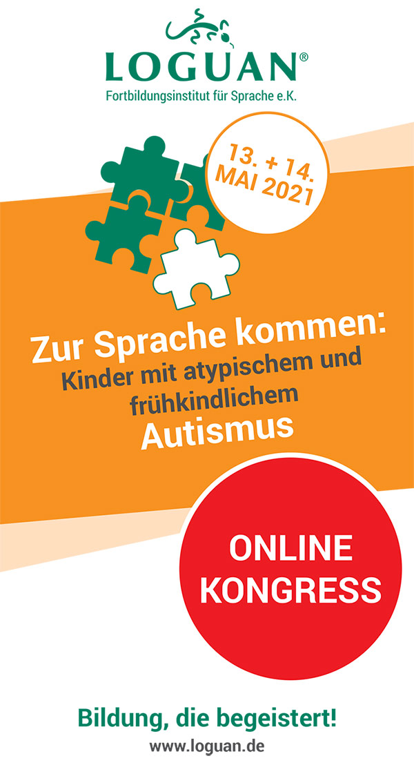 Loguan Flyer Kongress Autismus